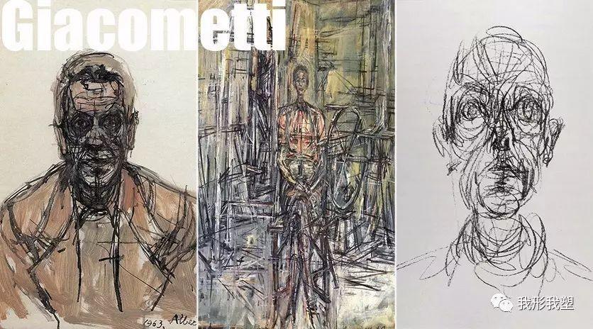 【大师】贾科梅蒂素描:构建在纸上的透明结构
